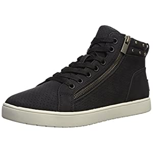 Koolaburra by UGG Women's W Kayleigh High Top Sneaker, Black, 8 Medium US