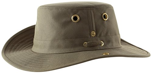 Protection Cowboy Sun (Tilley Endurables T3 Traditional Canvas Hat,Olive,7.5)