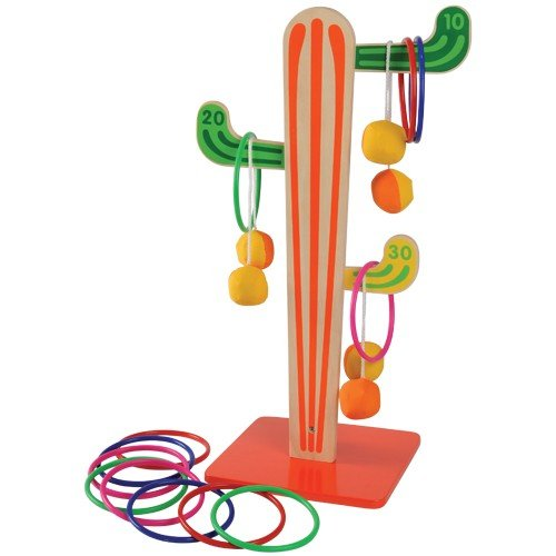 Constructive Playthings Cactus Tossing Target Game (Cactus Ring Toss Game)