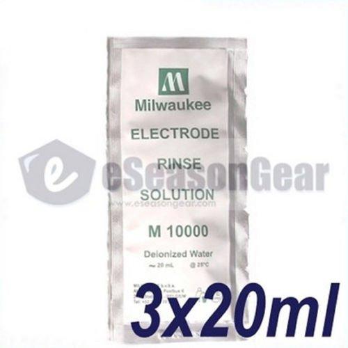 3x 20ml Electrode Rinse Solution, milwaukee/m10000/hanna/hi70000/pH/TDS/ORP