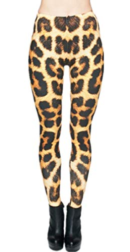 Alive Women's Digital Print High Waist Stretchy Ankle Sexy Leggings Tights (Leopard Print) ()