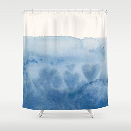 Amazon Waves Of Love Blue Watercolor Shower Curtain Handmade