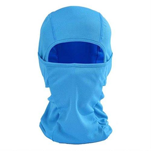 Audio Snowboard Hard Hat (Balaclava Face Mask Ultra Thin Helmet Liner Cover Hood for Outdoor Sports, Windproof Sun Protection Bike Motorcycle Skateboard Football Shield Head Sock Ninja Mask Neck Warmer Full Face Bandana,Blue)