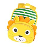 Fityle Cute Kids Boy Girl Cartoon Backpack School Bags Childrens Animal Bags - Lion, 29x22x10cm