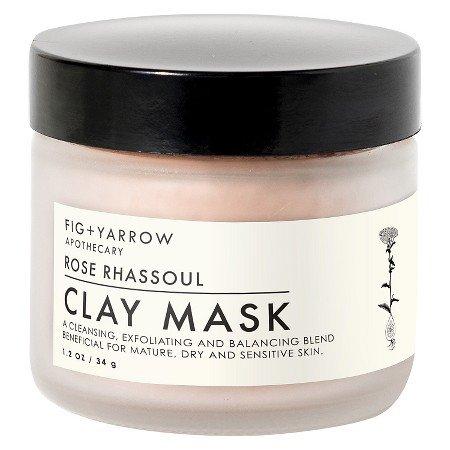 Fig + Yarrow Clay Mask Rose Rhassoul 1.2oz