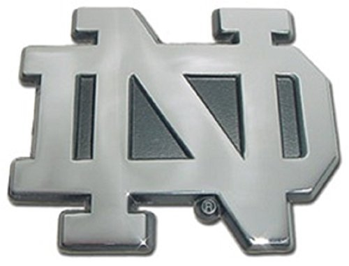 "Price comparison product image Notre Dame ""ND"" Chrome METAL Auto Emblem by Elektroplate"