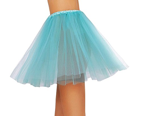 Tutus Tulle Skirt for Girl 3 Layered Ballerina Running Party Skirt Teal Green