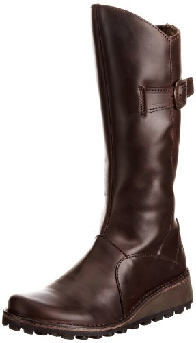 Fly London Mol K, Girls' Biker Boots Dark Brown