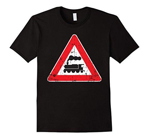 Railroad Street Sign (Railroad Train Distressed Traffic Street Sign T Shirt)