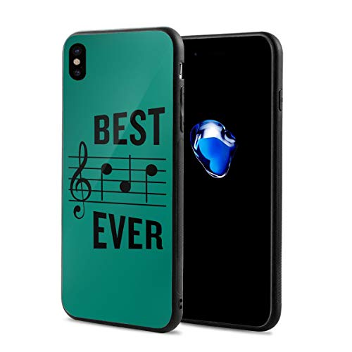 King Dare Best Ever Musical Note iPhone Xs Case/iPhone X Case Soft TPU Shell Full Protective Bumper Anti-Scratch Case Enhanced Grip Protective Defender Cover