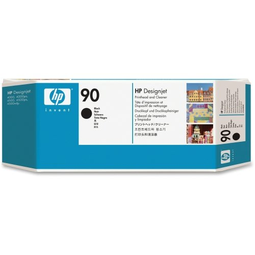 HP 90 Black Printhead and Cleaner - Black - Inkjet - 1 Each (90 Black Printhead Cleaner)