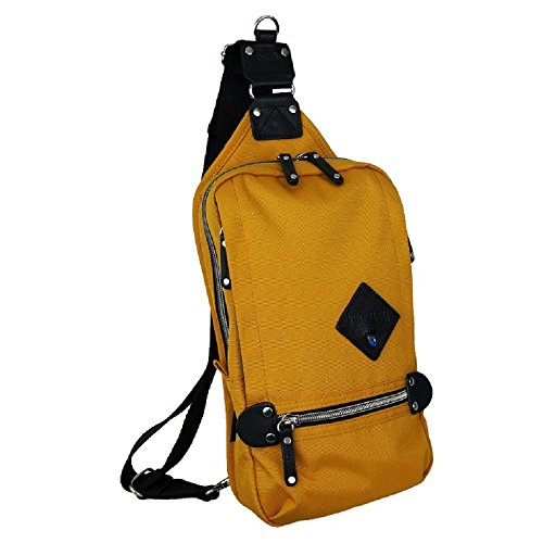 Harvest Label Urban Sling Mono Sling Travel Daypack Backpack Cordura (Mustard)