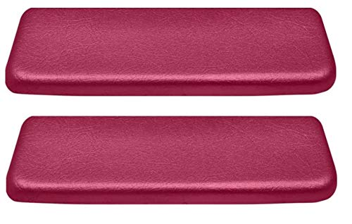 OER Red Rear Armrest Pad Set 1962-1964 Chevy II Nova 1965-1967 Bel Air (Red)