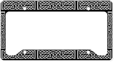 license plate frame celtic knot - 6
