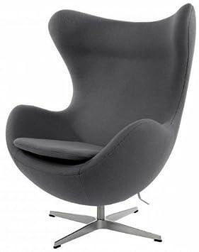 uka073b luxurious arne jacobsen style egg chair grey cashmere wool fabric arne jacobsen style egg