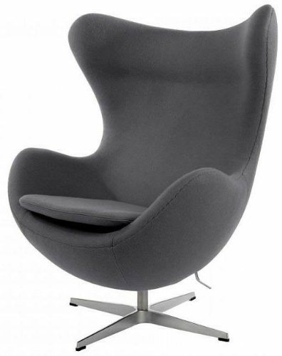 UKA073B- Luxurious Arne Jacobsen style Egg chair Grey cashmere Wool ...