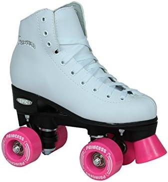 Epic Skates Princess Light Up Wheels Girls Quad Roller Skates