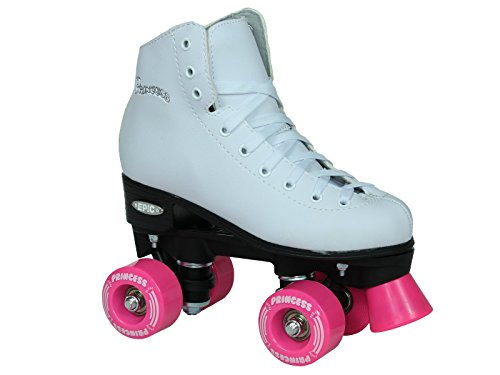 Epic Skates Princess Light Up Wheels Girls Quad Roller Skates