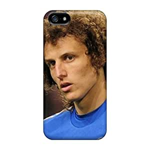Iphone 5/5s Case Cover Skin : Premium High Quality The Best Defender Of Chelsea David Luiz Closeup Case