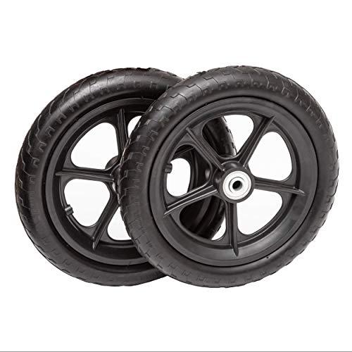 (Lapp Wheels Flat Free Plastic Spoke Wheel, Lawnmower/Garden cart/Pony Wagon Replacement, Diameter/Tread/Hub/Bearing Options)