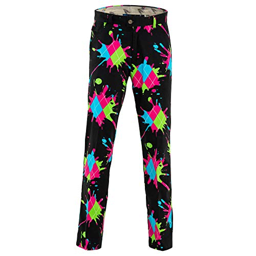 Royal & Awesome Haphazard Mens Golf Pants - 30W x -