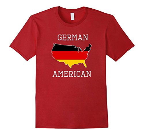Men's German American - Half Germany Half America Flag T-Shirt Medium Cranberry (Germany America Flag compare prices)