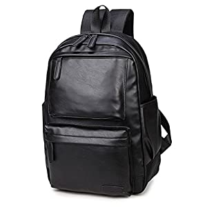 UKXMNC Men's Shoulder Bag PU Leather Backpack Casual Computer Bag Trend Bag Men And Women Universal