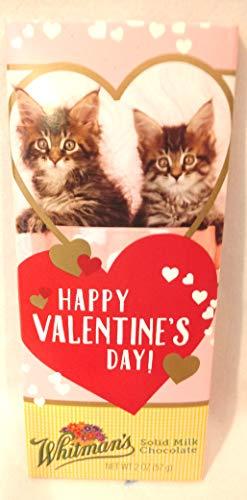 Valentine Candy Bar, Cat Themed Valentine Candy Bar, Whitman's Milk Chocolate Bar