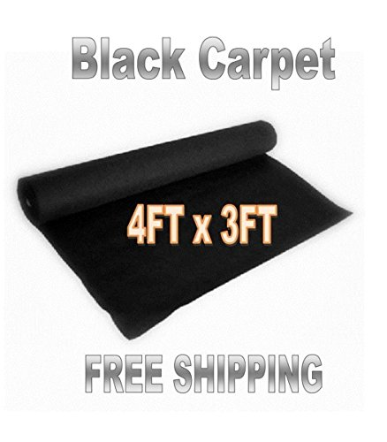 3ft x 4ft (Black) DJ CAR SUB SPEAKER BOX CARPET TRUNK LINER