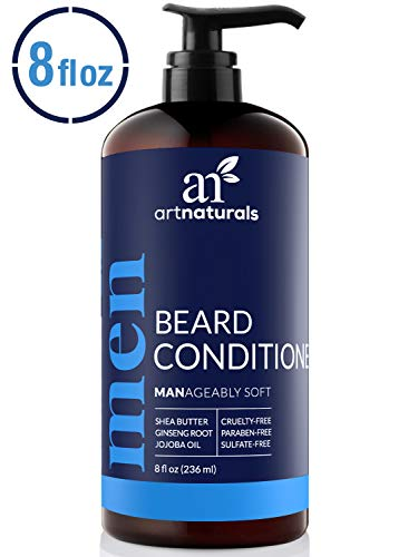 ArtNaturals Natural Beard Deep Conditioner – (8 Fl Oz / 236ml) – Infused with Aloe Vera, Tea Tree and Jojoba Oil – Sulfate Free