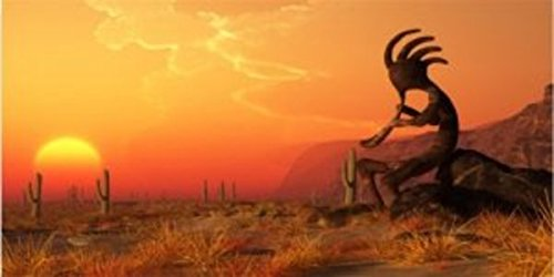 Kokopelli Desert Scene Photo License Plate