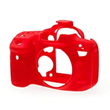 easyCover Silicone Protection Case for Canon EOS 7D Mark II Camera, Red