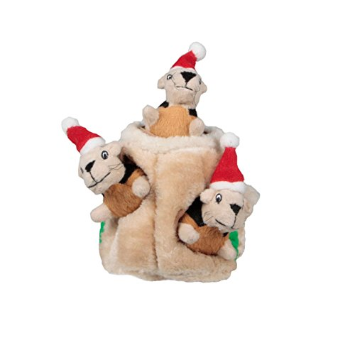 Outward Hound Kyjen  Hide-A-Squirrel Holiday Squeaking Puzzl