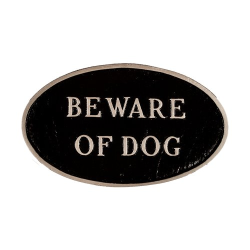 Montague Products SP-5sm-BS Beware of Dog Oval Statement ...