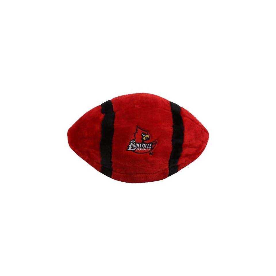 NCAA Louisville Cardinals Red Plush Football  Sports