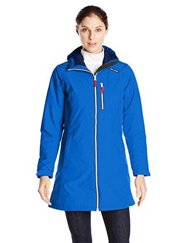 Helly Hansen Women's Long Belfast Winter Jacket Coat Blue/Classic Blue