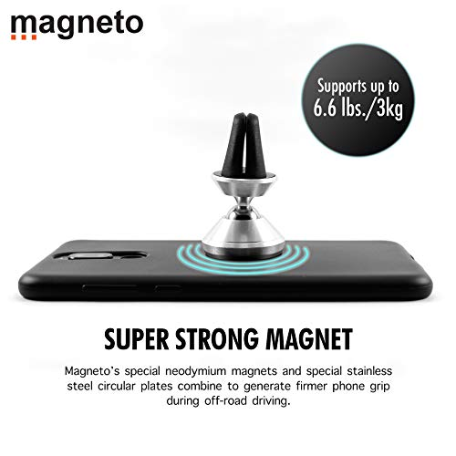 (Magneto Magnetic air-Vent Phone Holder-Mount Universal Stand for iPhone X 8 7 7P 6s 6P 5S Galaxy S9 S8 S7 S6 Google Pixel LG Huawei Latest Smartphone)