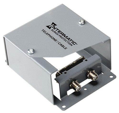 Protector F Surge Coaxial Connector (Intermatic IG1CM 1 Line Indoor Coax Cable Protector Metal Enclosure)