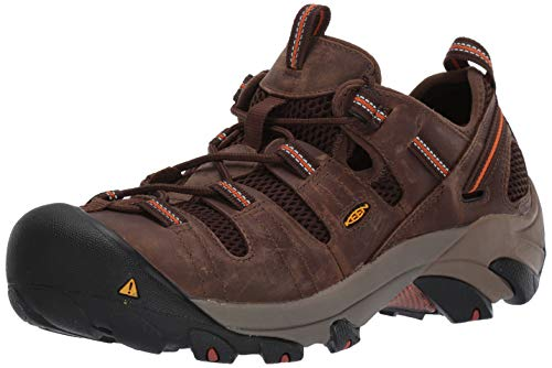 KEEN Utility Men's Atlanta Cool Steel Toe Work Shoe,Shitake,10 EE -