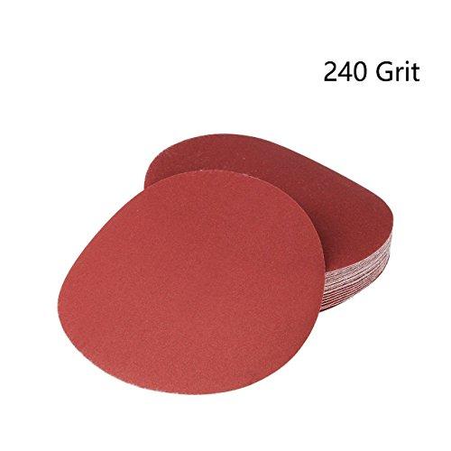 Rannb 20pcs 7-Inch 240 Grit Hook & Loop Sanding Disc Aluminum Oxide Abrasive