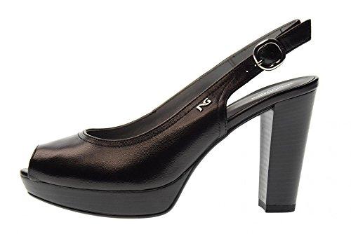 Mujer 100 Con De Zapatos Nero Negro P805620d Decollet Giardini Tacones q8gt7xP