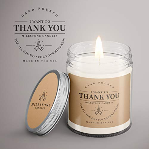 FBA Thank You Mason Jar Candle 7.5 oz Glass