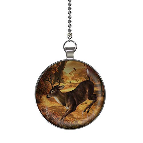 - Gotham Decor Autumn Leaping Deer Ceiling Fan/Light Pull Pendant with Chain