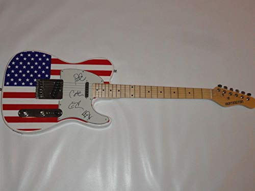 Live The Band Autographed Signed Usa Flag Electric Guitar Ed Kowalczyk All 4 Proof JSA Authentic