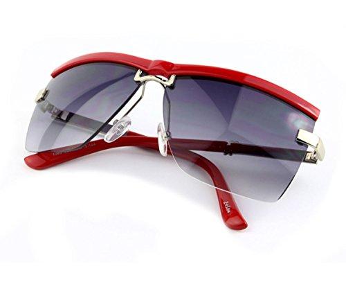 Heartisan Unisex Classic Half Frame Horn Anti-UV Square Lens Sunglasses - Miu Miu Lentes