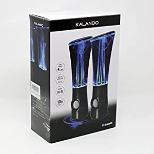 KALANDO Wireless Bluetooth Dancing Water Fountain Speakers Light Show LED Speakers (6 Colored LED Lights, Built-in Rechargeable Battery, Bluetooth 4.0)