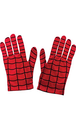 Rubie's Costume Men's Marvel Universe Adult Spider-man Gloves, Multi, One Size (Mens Black Spiderman Costume)