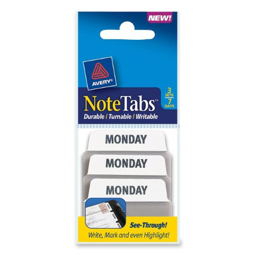 Avery NoteTabs Inches Days 16302