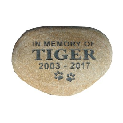 Pet memorial stone headstone grave marker 7