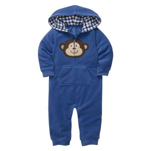 Carter's Baby Boys Hooded Microfleece Jumpsuit - Blue Bear Face��18M